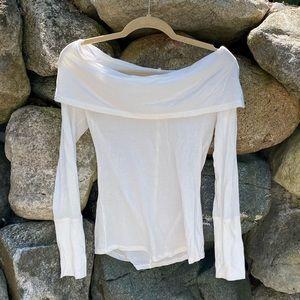 Free people exposed shoulder long sleeve top